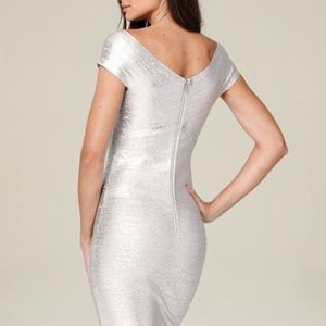 bebe Dresses - BeBe Brushed Silver Mid Length dress